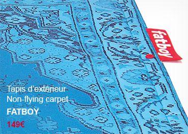 Tapis non-flying carpet Fatboy #mobilierdejardin #terrasse #carpet #jardin #blue #outdoor #garden #furniture #design