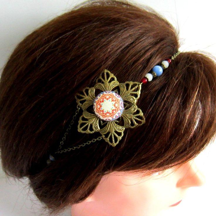 Les 25 meilleures id es de la cat gorie bijoux de tete mariage sur pinterest bijoux cheveux - Headband mariage boheme ...