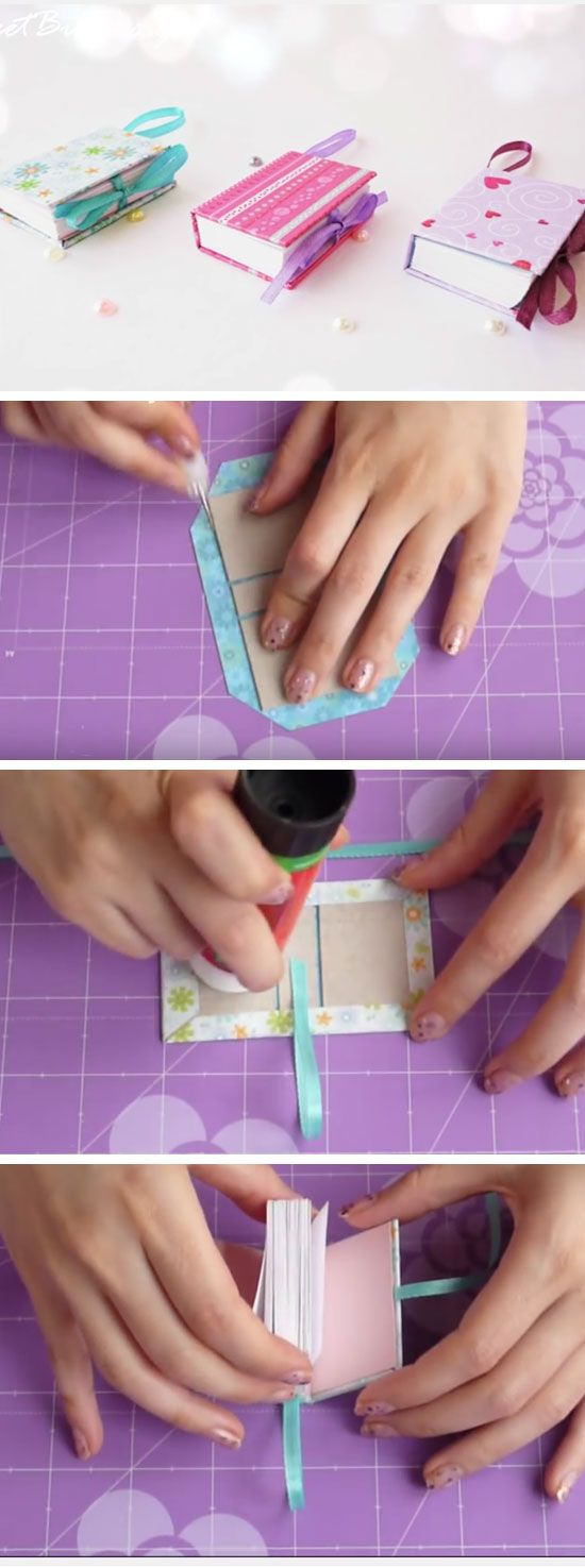DIY Mini Notebooks | 18 DIY Summer Art Projects for Kids to Make | Easy Art…