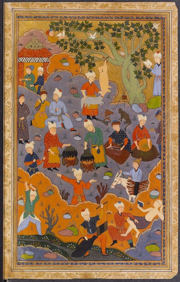[Dīvān-i Ḥāfiẓ] Creator: Ḥāfiẓ, 14th cent. Physical Description: 134 leaves : paper, ill. ; 246 × 157 (170 × 95) mm. Princeton University Library