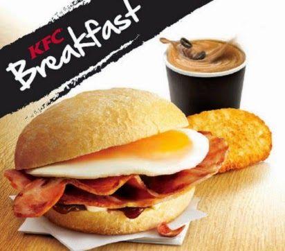 Harga Menu KFC Breakfast Lengkap,