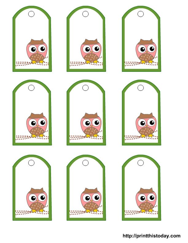 25 unique gift tag templates ideas on pinterest tag templates free printable owl gift tags templates in pink or blue or green oo negle Images