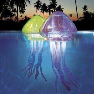 """Floating-LED-jellyfish lights - Light Positive Blog Post """"Floating Pool Lights"""""""