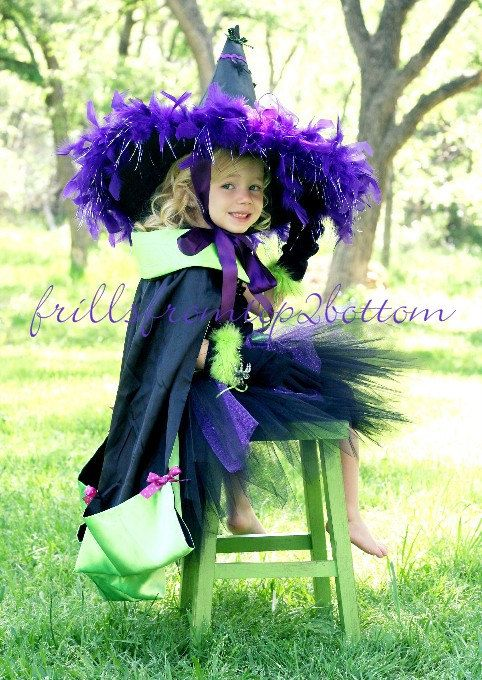 Toddler Witch Costume  Great for Halloween by frillsfromtop2bottom