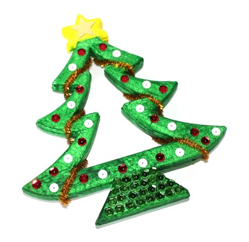Add sparkle and shine to these decofoam Christmas tree! This tree was made using Shamrock Craft material -- tree comes in packs of 10.
