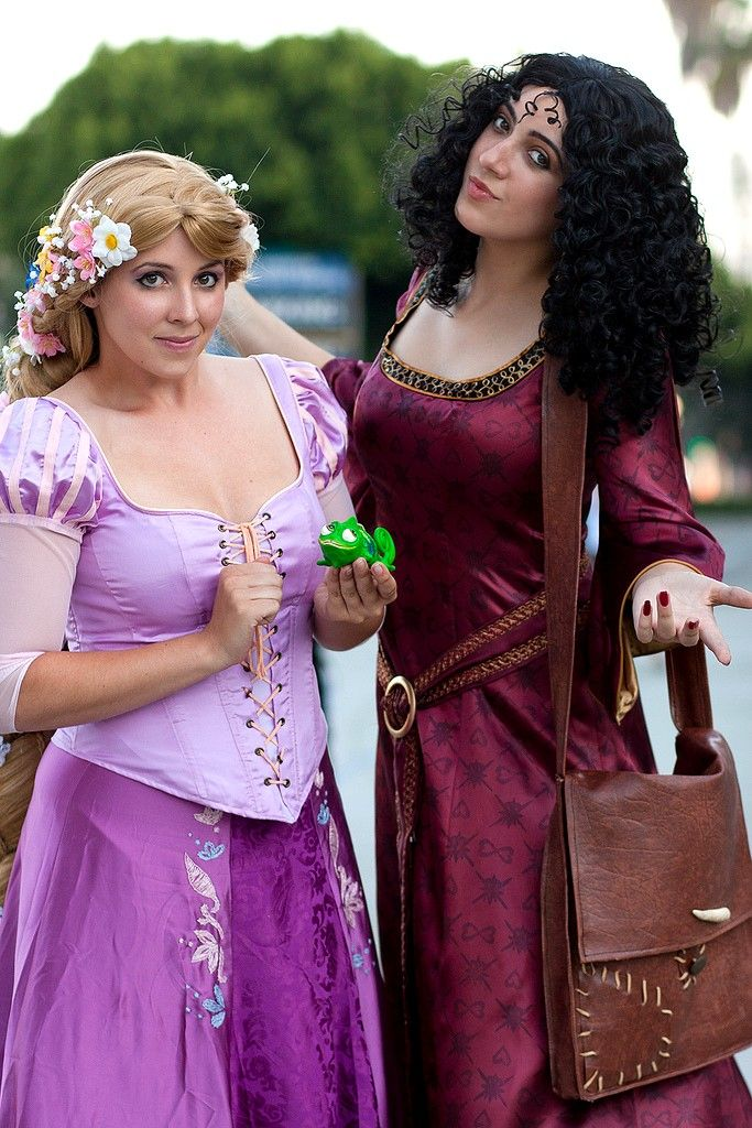 Amazing Tangled Cosplay of Rapunzel and Mother Gothel seriously that is the best Gothel I've ever seen!