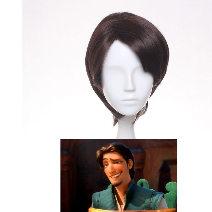 Tangled Prince Flynn Rider Cosplay from Tangled Anime Cosplay Wig Short Brown Synthetic Hair