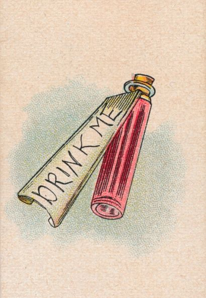The Bottle 1930 The bottle drunk by Alice that causes her to shrink From Lewis Carroll's 'Alice in Wonderland' After an illustration by John Tenniel...