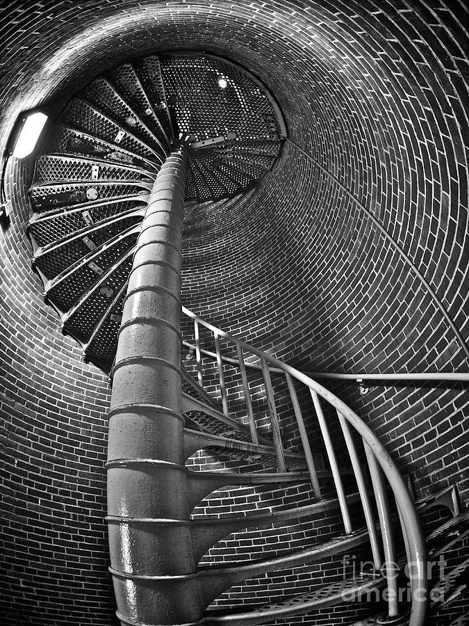 "Escher-esque Photograph----spiral staircases fascinate me like this one taken in a lighthouse. Definitely ""Escher-esque"""