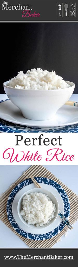 Perfect White Rice. How to make perfect fluffy white rice.  No measuring cups needed!