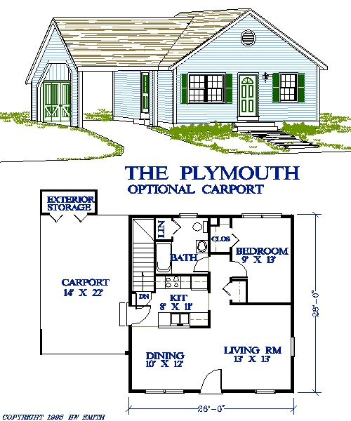 Google Image Result For Http Www Cadsmith Com House Plans One Story Plymouth R401 Pa Gif 주택