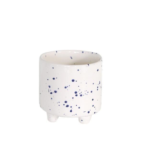 Ceramic Pot - Blue Speckle