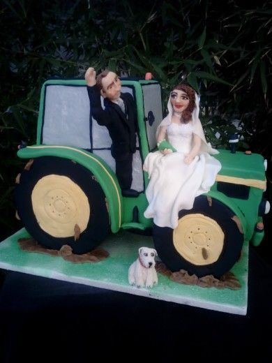 Tarta boda tractor