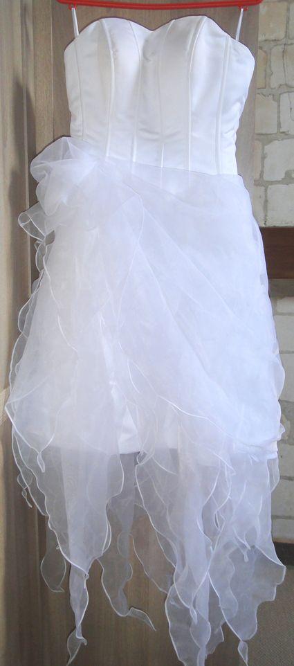 Robe de mariée asymétrique courte d'occasion à Lille