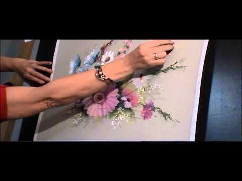 Démonstration de Fleurs au pastel sec par Catherine VICTOIRE - YouTube