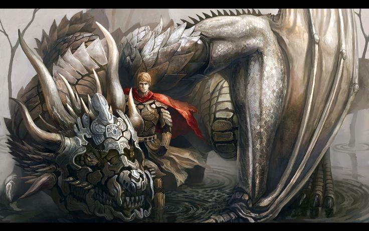 water wings dragons fantasy art armor drake #warrior # ...
