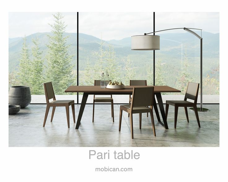 Click here to see Mobican's Pari tablet. It has been introduced at #HPMKT Spring 2016    Cliquez ici pour voir la table Pari de Mobican: http://mobican.com/pari/ #mobican #table #diningroom #madeincanada #contemporary #wood #furniture