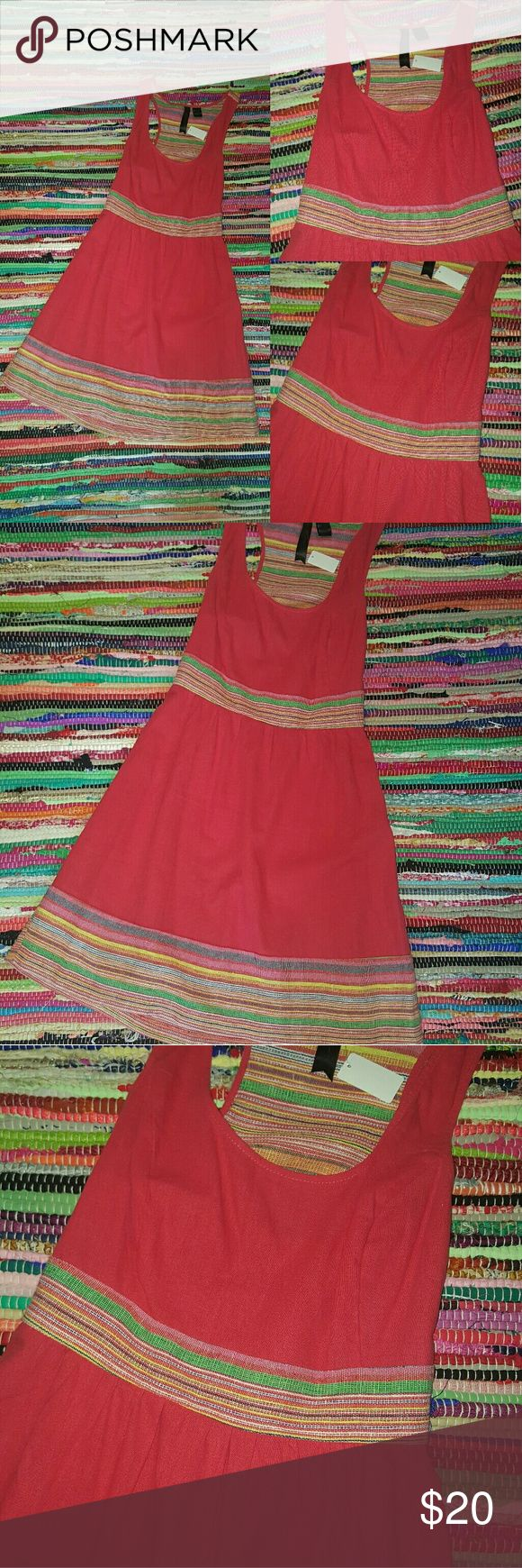 Anthropology dress by Petticoat alley Red This dress is in excellent condition the bands of striping consist of blue, green, white, yellow, orange The most perfect picnic dress! Anthropologie Dresses