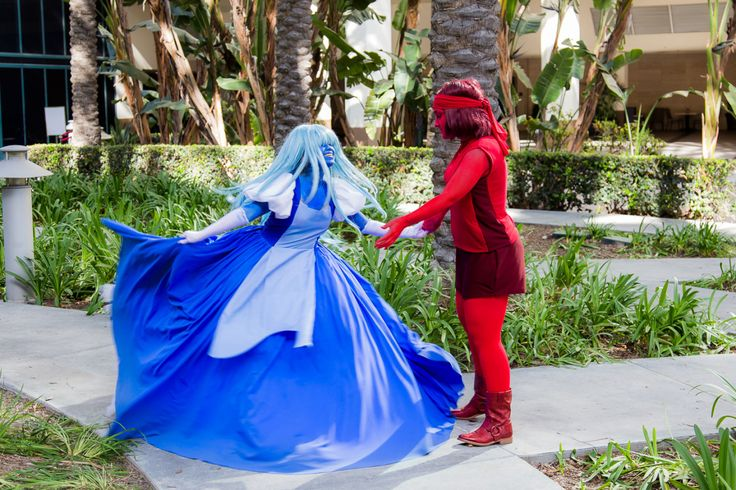 sapphire and ruby from steven universe......for faith and Annie