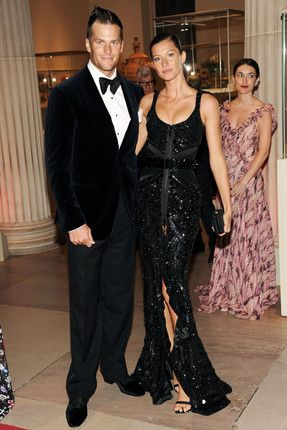 The perfectly matched and undeniably gorgeous couple Gisele Bundchen and Tom Brady looking stylish and co-ordinated in black at the 2012 Met Gala. Brady has appeared on the International Best Dressed List both as an individual and alongside his beautiful wife in the couples category.