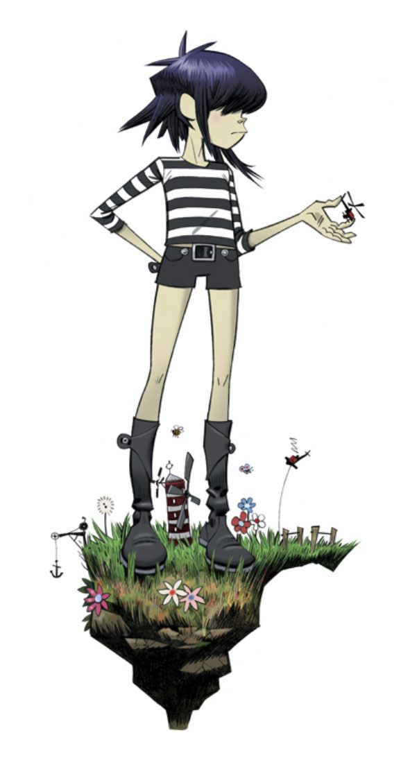 art by Jamie Hewlett                                                                                                                                                                                 Plus