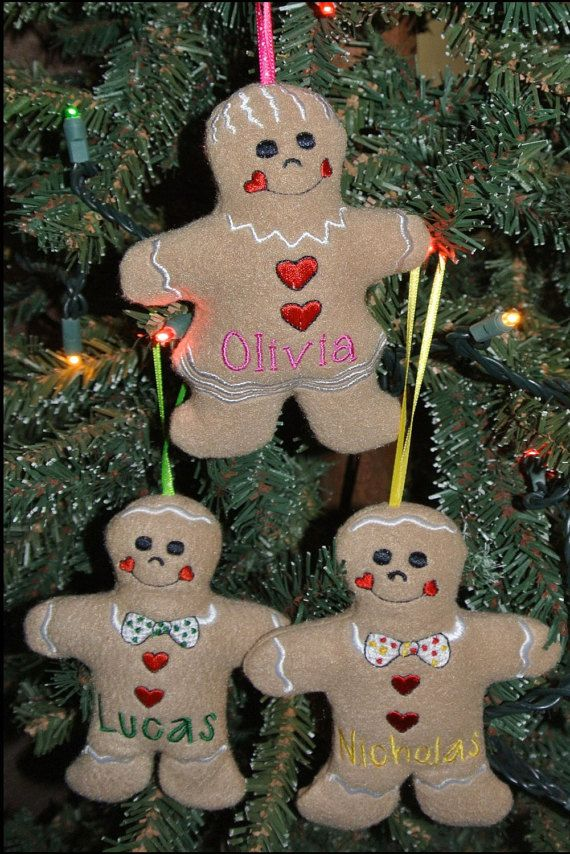 Puffy Personalized Gingerbread Ornament, Baby's First Ornament, Christmas Ornaments, Gingerbread Girl, Gingerbread Boy, Gingerbread ornament