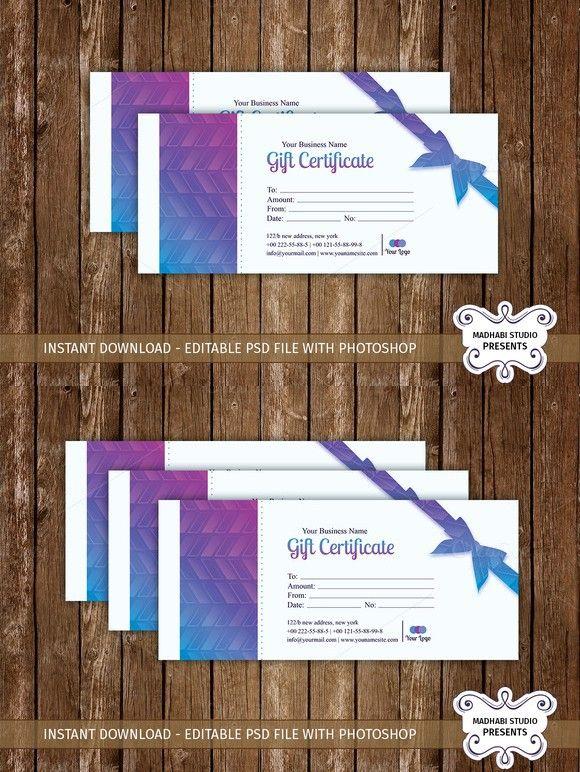 Gift Certificate Template. Gift Voucher Design Templates. $7.00