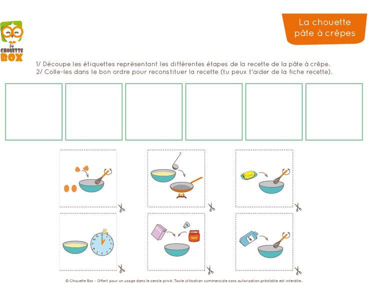 Une chouette activité Montessori Printable : la recette de la pâte à crêpes pour la Chandeleur ! chouettebox.com