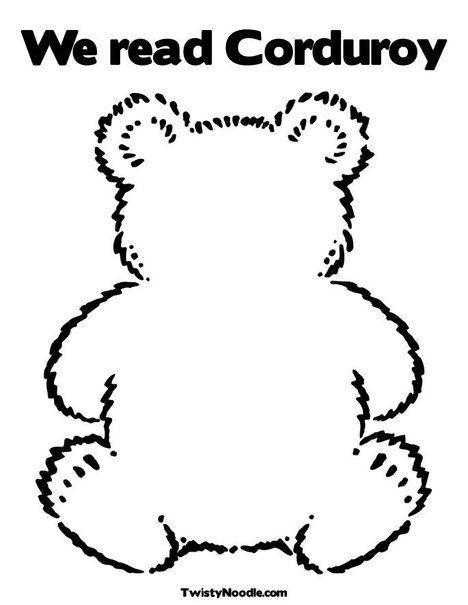 Corduroy Bear Pattern | corduroy the bear template