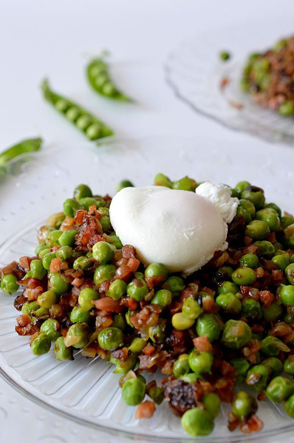 Try peas with caramelised onions and lentils instead...?