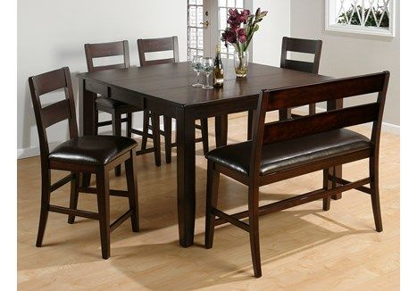 Jofran Rustic Prairie Distressed Counter Height Dining Set