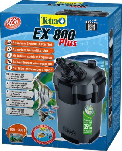 Tetra Aquarien Außenfilter EX 800 Plus, leistungstarker Filter für Aquarien von 100-300 L, Komplettset mit Ansaughilfe zum Schnellstart und Filtermedien