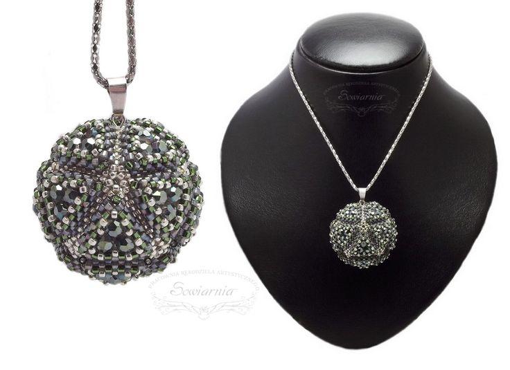 Icosahedron - geometric beaded bead blog.sowiarnia.pl