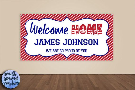 Welcome Home Military Banner - Deployment Homecoming Sign - Military Homecoming Banner - Welcome Home Banner - Welcome Home Military Sign