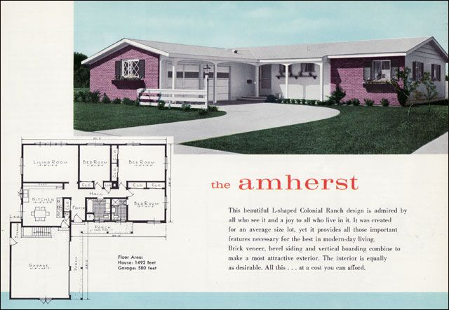 1000 images about floor plans on pinterest modern ranch for 1960 ranch house plans