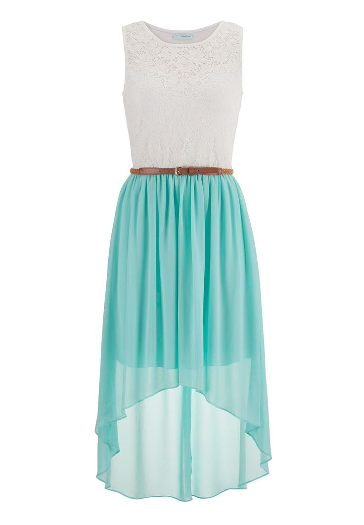 belted lace top high low dress - maurices.com