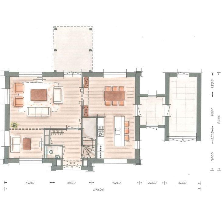 Huisbouwen villa Linderpijlstaart plattegrond begane grond