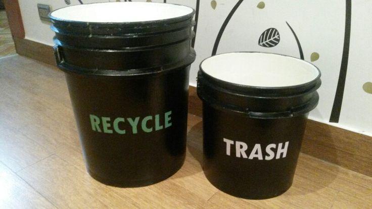 Tacho de basura. Recycle. Trash. DIY