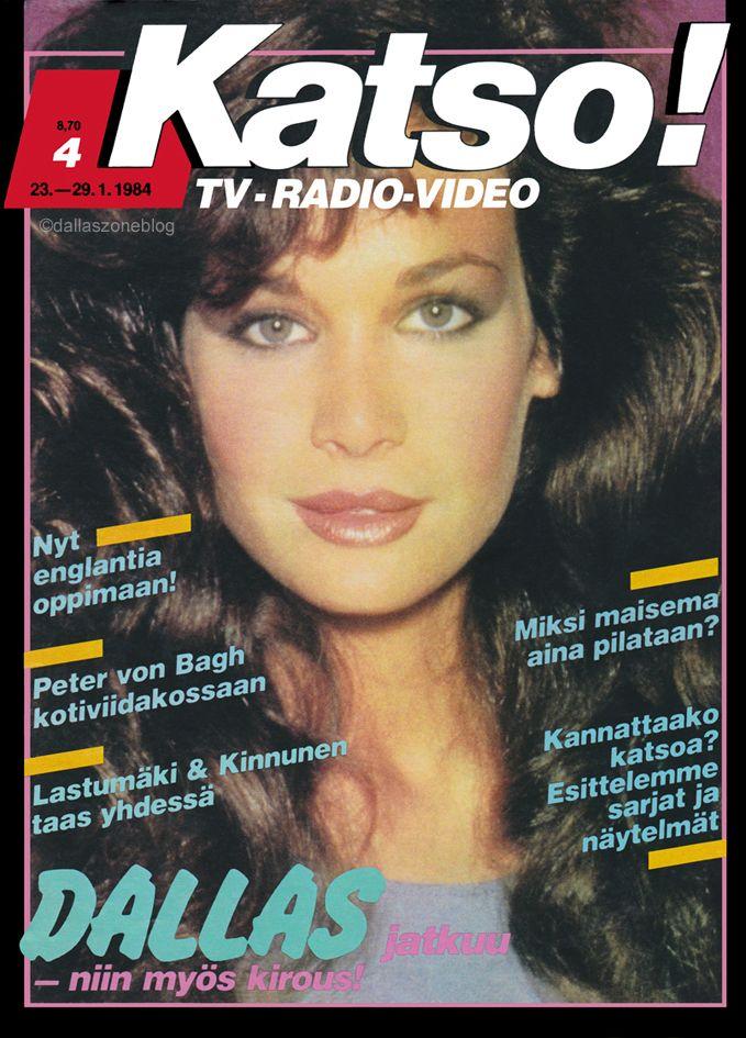 Mary Crosby as Kristin on Dallas. Finnish Katso magazine 1984.