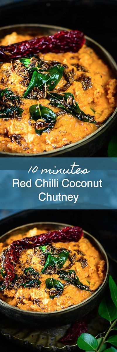 Red Chilli Coconut Chutney Recipe is a delicious South Indian accompaniment to serve with idli, dosa or even rice and plus it is super easy to make as well. South Indian I Indian I Recipe I Chutney I Accompaniments I easy I simple I Quick I Best I Top I Traditional I Authentic I