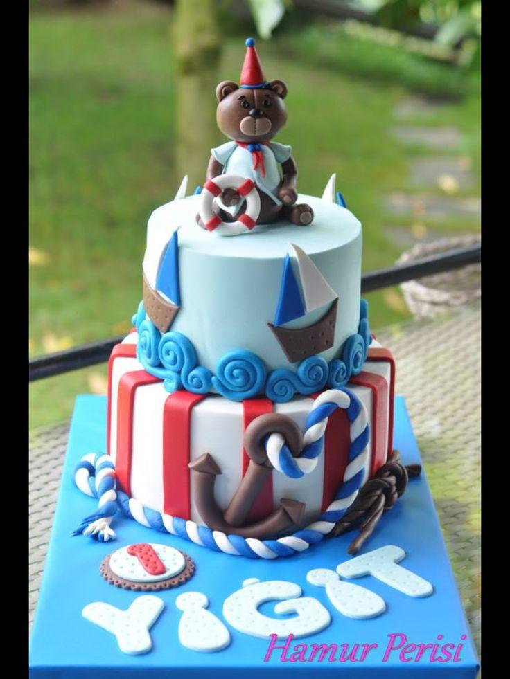 Bear Cake -Marine Cake -ayıcık pasta -denizci pastA -Hamurperisi
