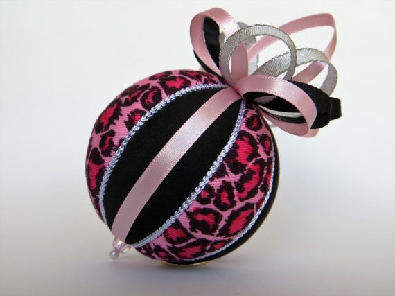 Pink Leopard Print Christmas Ornament by OrnamentDesigns on Etsy