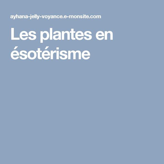 Les plantes en ésotérisme