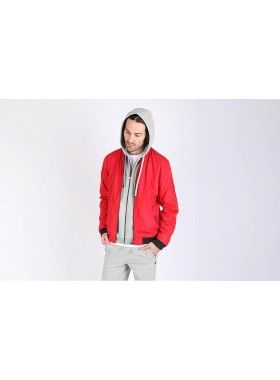 QuarterLife Clothing Red Bomber Jacket. Buy @ http://thehubmarketplace.com/Bomber-Jacket-Red