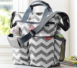 Gray Chevron Skip Hop Duo Diaper Bag