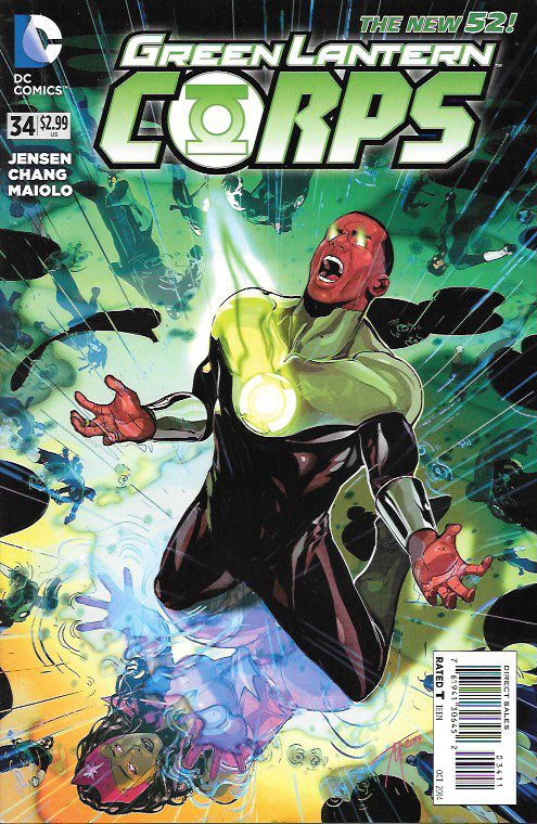 Vengeance .Swift_Written By Van Jensen, Art By Bernard Chiang , Cover Art by Trevor McCarthy , After last issue's shocking revelation John Stewart's world is turned upside down! Is it too late for him