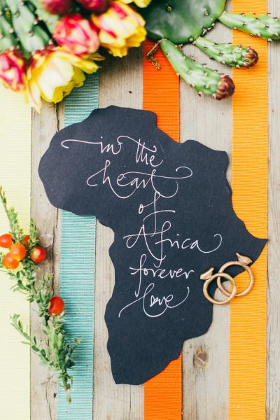 So cute: http://www.stylemepretty.com/little-black-book-blog/2015/02/27/south-african-welcome-brunch-inspiration/ | Photography: Lisa Poggi - http://www.lisapoggi.com/