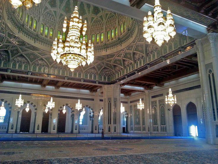 Mosque interior, Oman.