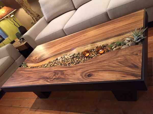 Earthy contemporary coffee table. | Sequoia Santa Fe