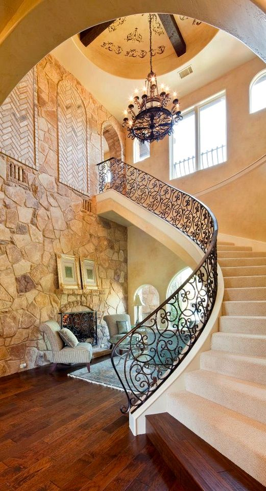 Tuscan foyer. This is gorgeous!